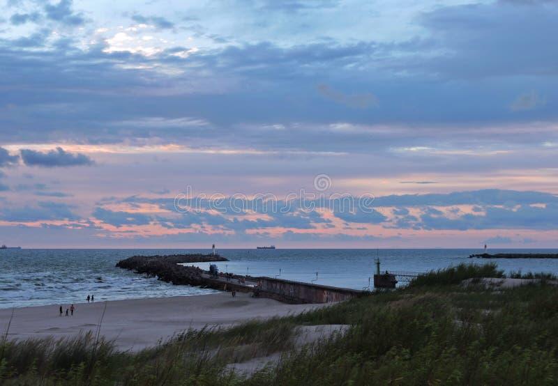 Porto di Ventspils, Lettonia fotografie stock libere da diritti