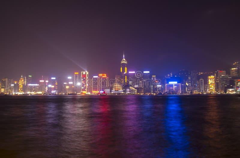 Porto di Victoria a Hong Kong immagine stock