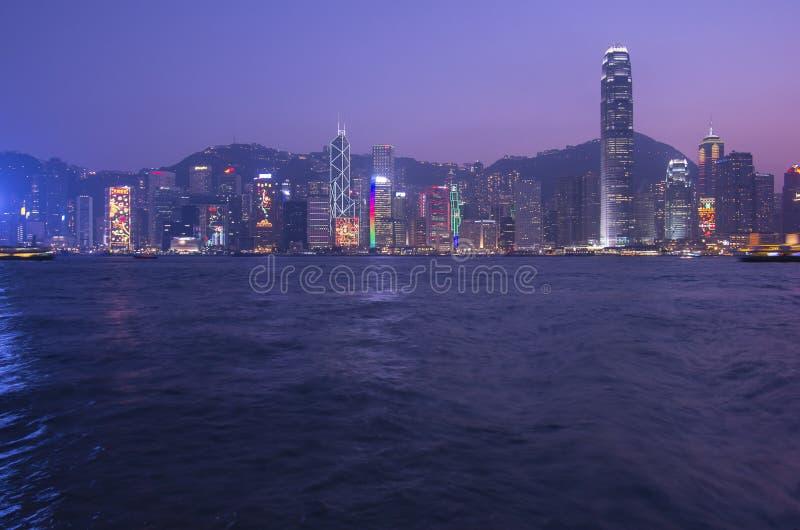 Porto di Victoria a Hong Kong immagine stock libera da diritti