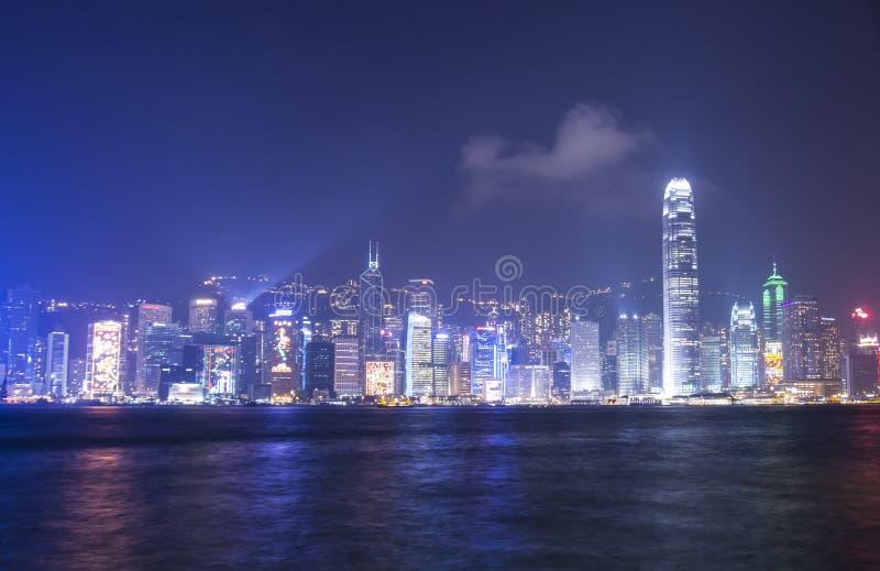Porto di Victoria a Hong Kong fotografia stock libera da diritti
