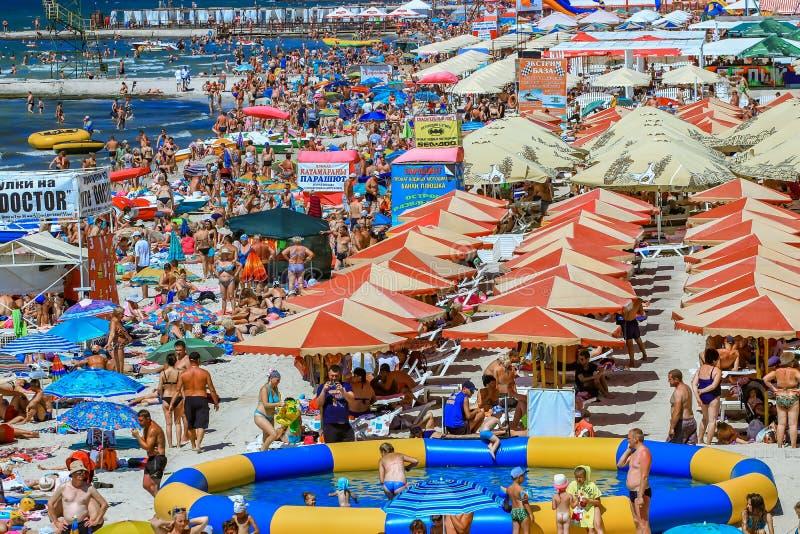Porto di Zaliznyi del porto del ferro, Cherson Oblast, Ucraina - luglio 2018 fotografia stock libera da diritti