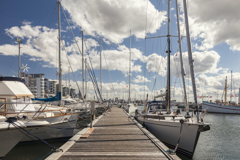 Porto do barco de Helsingborg imagens de stock