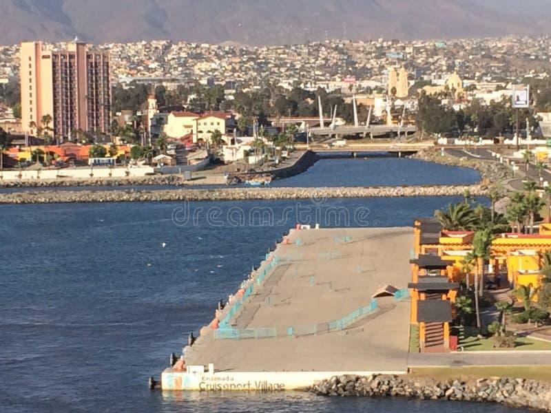Porto do cruzeiro de Ensenada fotografia de stock