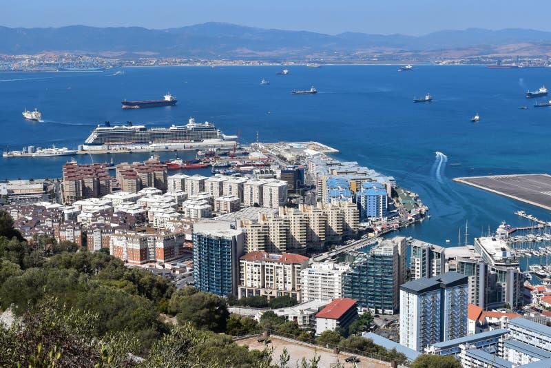Porto do cruzeiro de Gibraltar imagem de stock royalty free