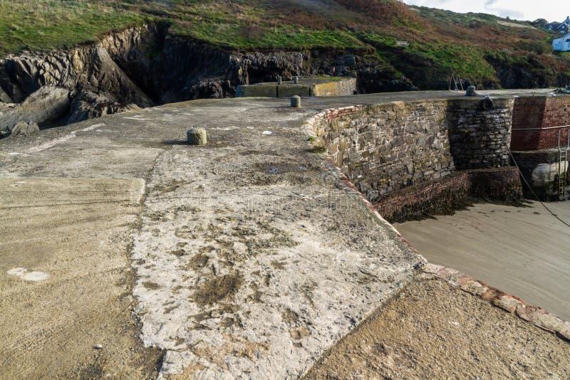Porto do porto de Porthgain foto de stock