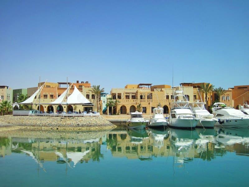 Porto do EL Gouna, Egito fotos de stock royalty free