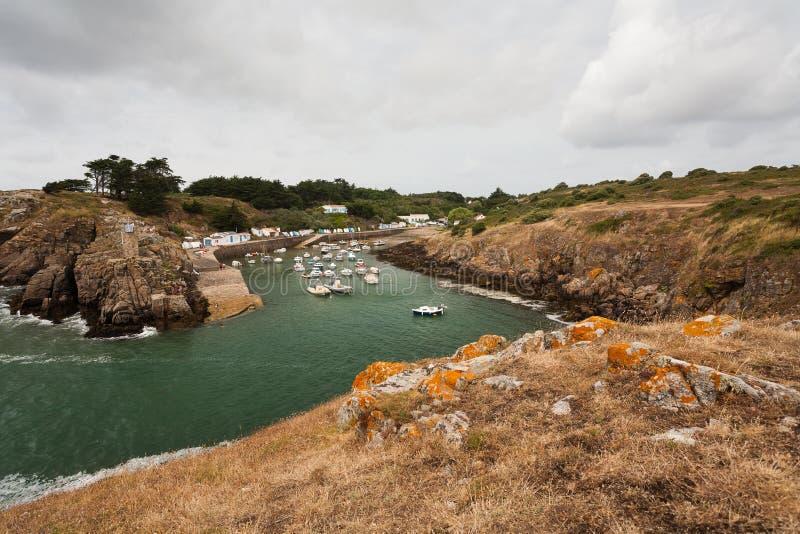 Porto do La Meule no d'Yeu de Ile, Vendee, França imagem de stock