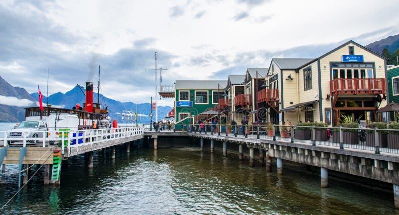 Porto do lago Wakatipu em Nova Zelândia fotos de stock royalty free