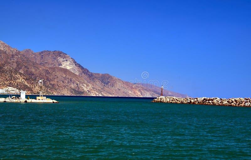 Porto do quebra-mar de Kardamena fotos de stock
