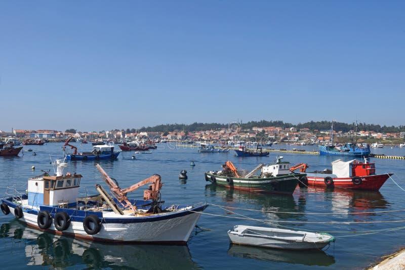 Porto do xufre, Illa de Arousa, Pontevedra province,. Galicia, Spain royalty free stock photography