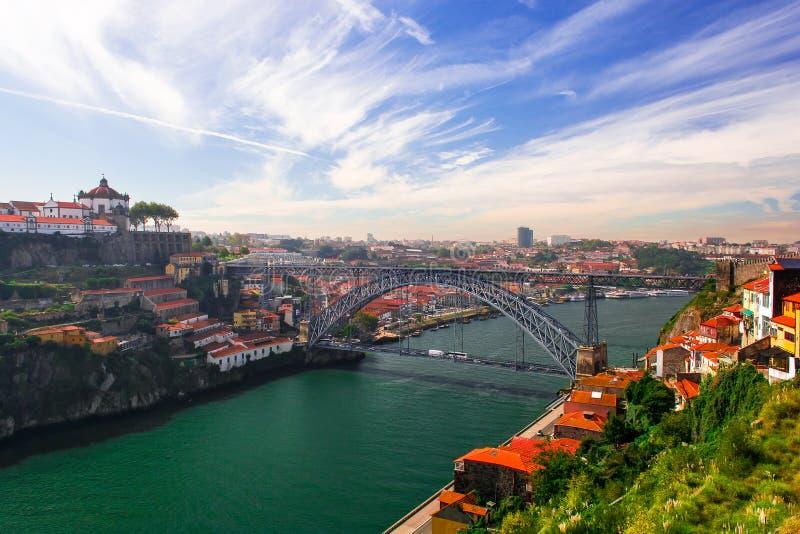 Porto with Dom Luis bridge, Portugal stock image