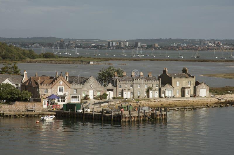 Porto Dorset Inglaterra de Poole da ilha de Brownsea fotos de stock royalty free