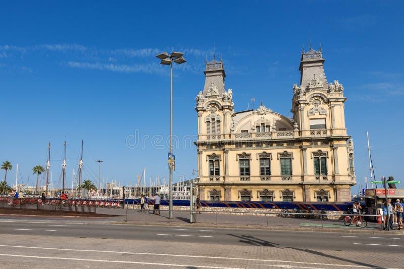 Porto dos costumes velhos de Barcelona que constroem - Espanha fotografia de stock royalty free