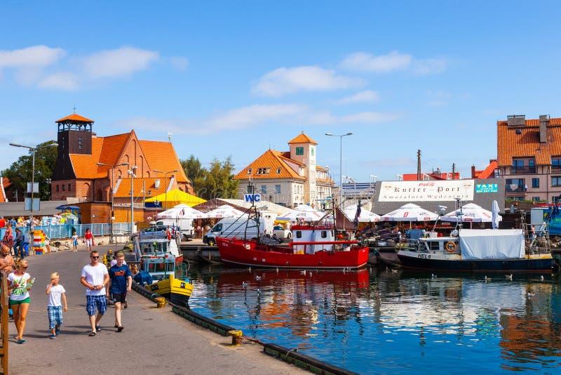 Porto dos Hel, Polônia fotos de stock
