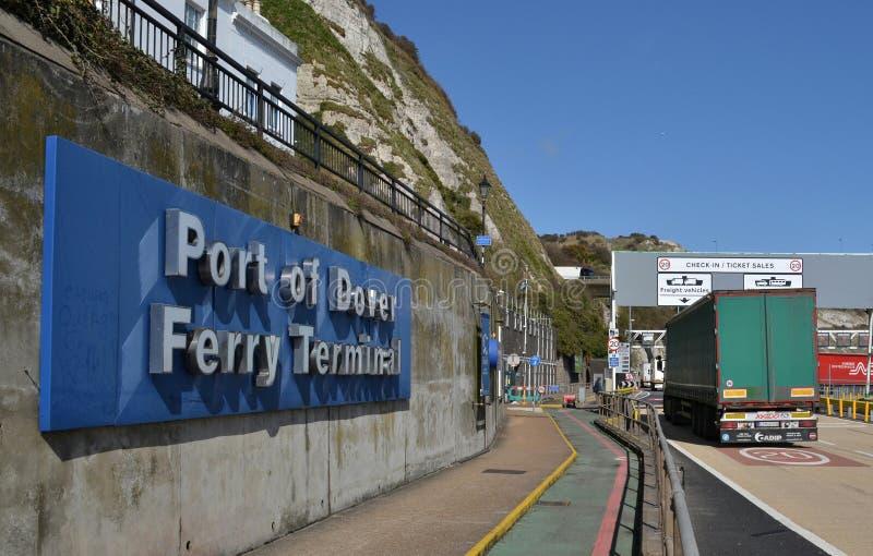 Porto Dover Ferry Terminal fotografia de stock