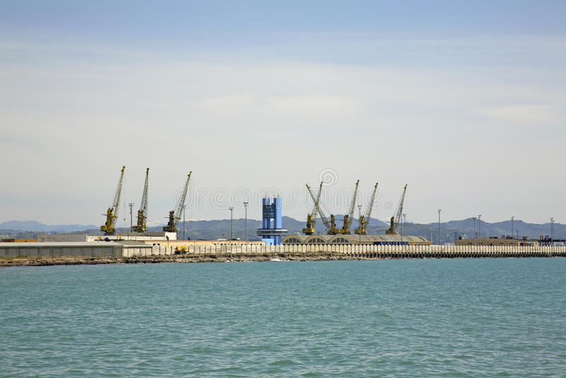 Porto a Durres MARE ADRIATICO l'albania immagini stock