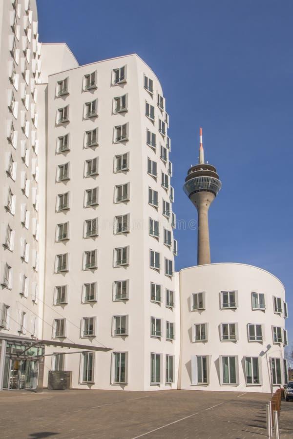 Porto Dusseldorf dos meios fotos de stock royalty free