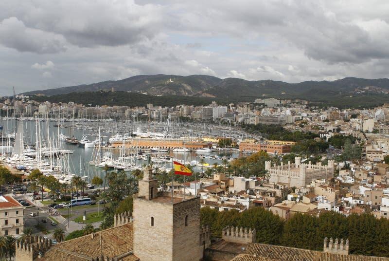 Porto e beira-mar de Palma de Maiorca fotografia de stock