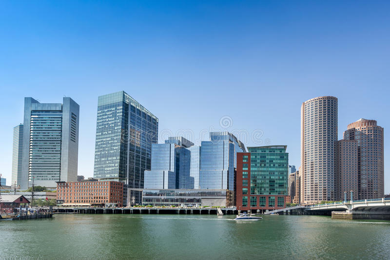 Porto e beira-rio de Boston foto de stock royalty free