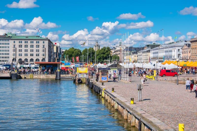 Porto e cais Helsínquia, Finlandia, UE fotografia de stock royalty free