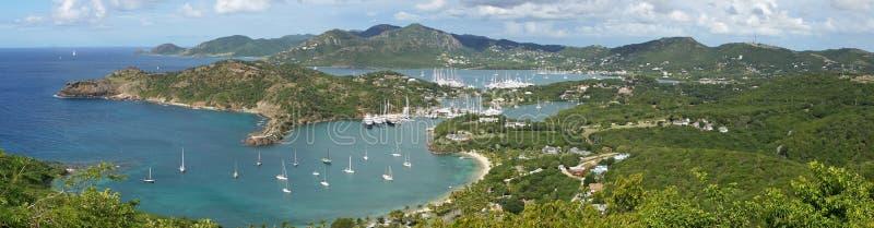 Porto e cantiere navale inglesi di Nelsons, Antigua e Barbuda, Carib immagine stock libera da diritti