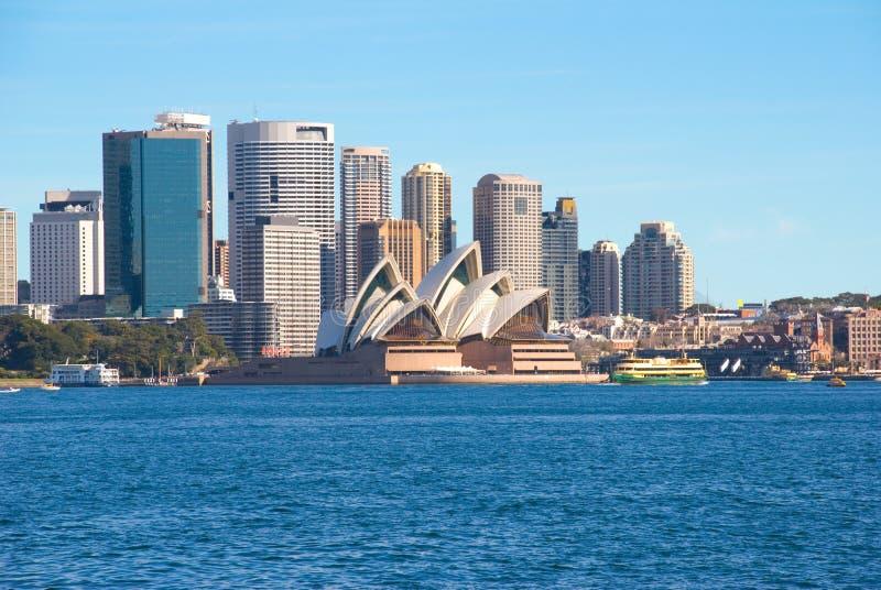 Porto e città di Sydney fotografie stock