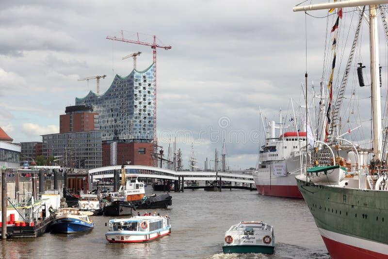Porto e Elbe Salão filarmônico em Hamburgo, Alemanha imagens de stock royalty free