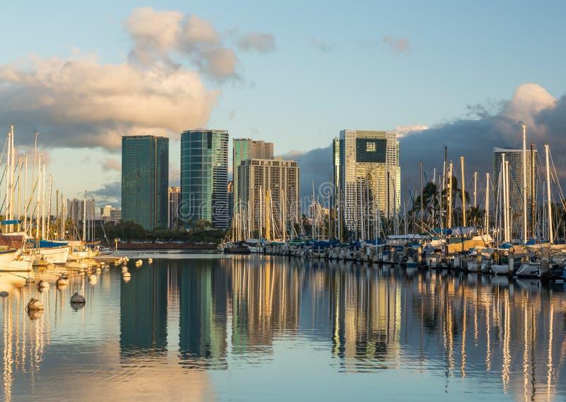 Porto em Alá Moana Oahu Havaí imagens de stock royalty free