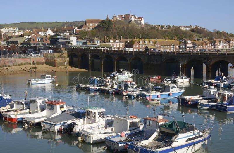 Porto em Folkestone. Kent. Inglaterra foto de stock royalty free