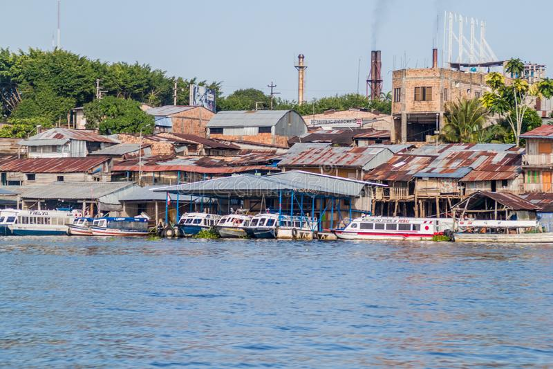 Porto em Iquitos, Peru fotografia de stock