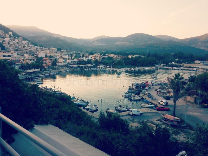 Porto em Kavala imagem de stock royalty free