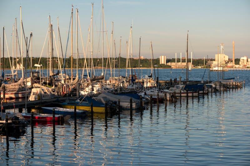 Porto em Kiel durante Kiel Week fotos de stock