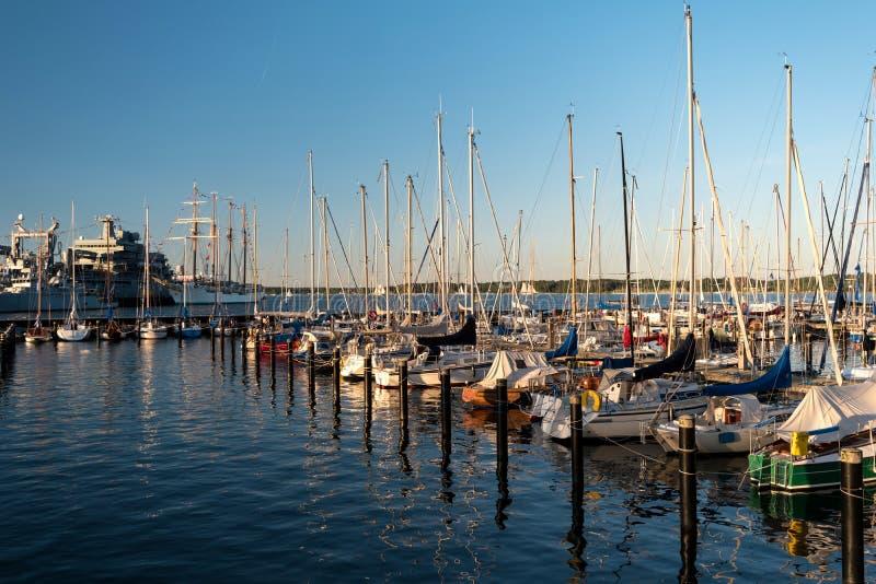 Porto em Kiel durante Kiel Week foto de stock royalty free