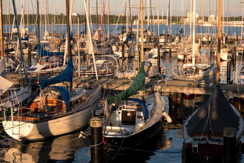Porto em Kiel durante Kiel Week imagens de stock royalty free
