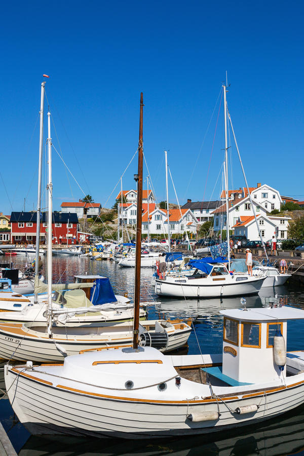 Porto em Mollosund, Suécia fotos de stock
