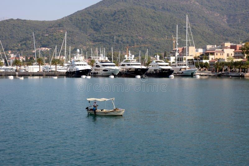 Porto em Montenegro foto de stock
