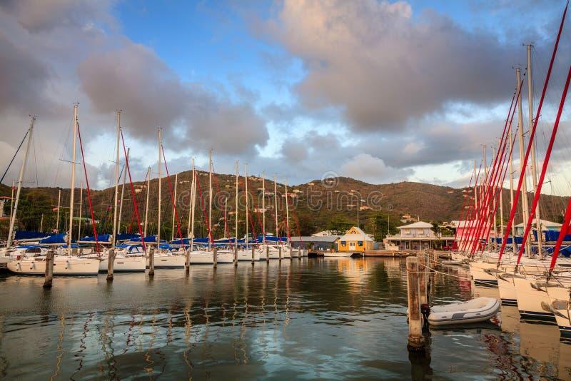 Porto em Tortola imagens de stock