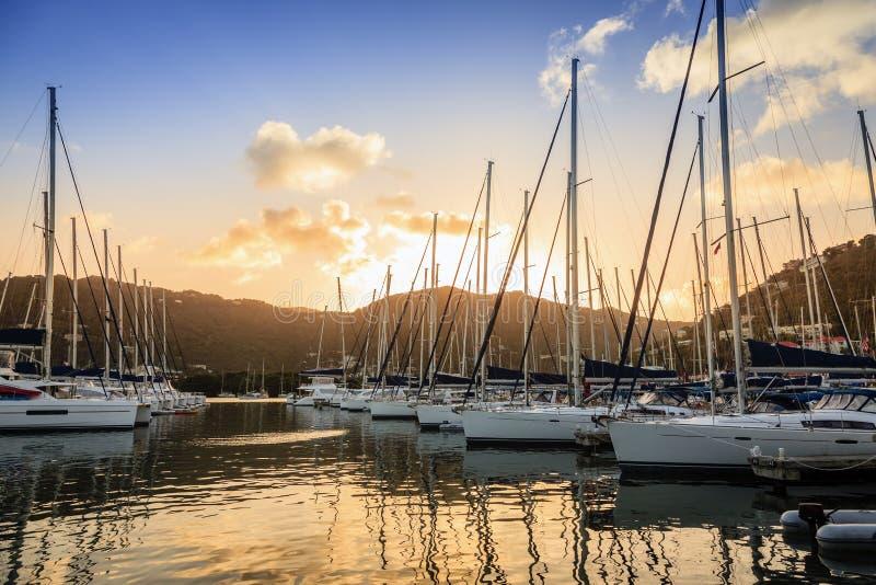 Porto em Tortola fotos de stock