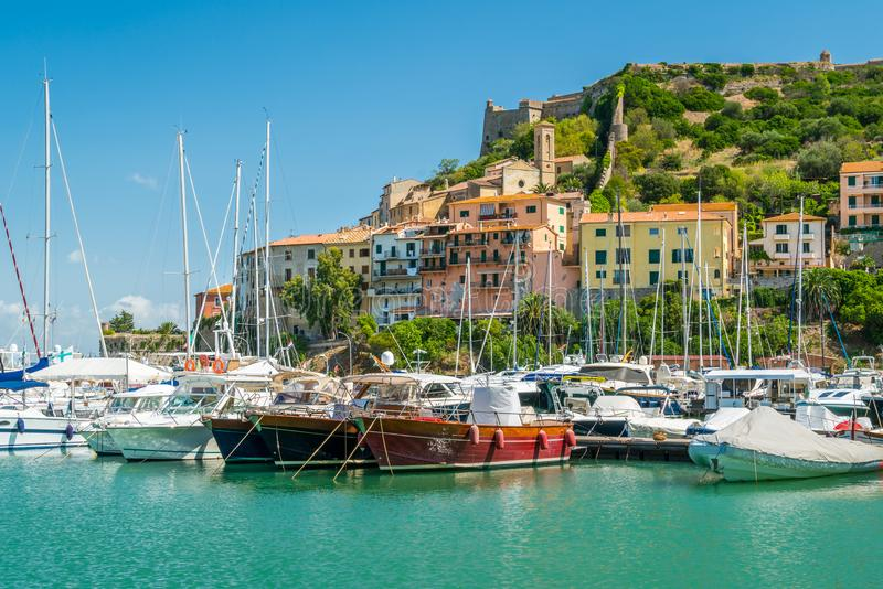 Porto Ercole, in Monte Argentario, in the Tuscany region of Italy. stock images