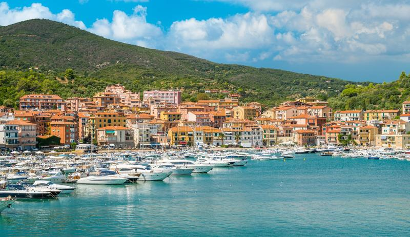 Porto Ercole, in Monte Argentario, in the Tuscany region of Italy. stock photos