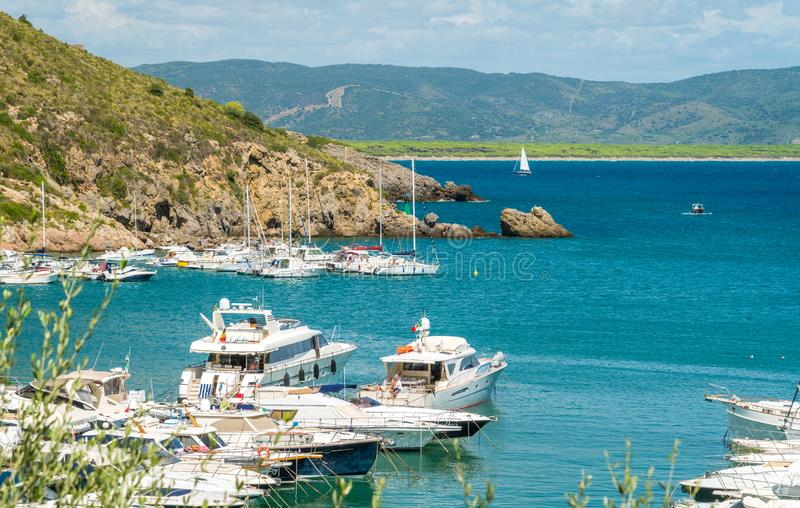 Porto Ercole, in Monte Argentario, in the Tuscany region of Italy. stock photography