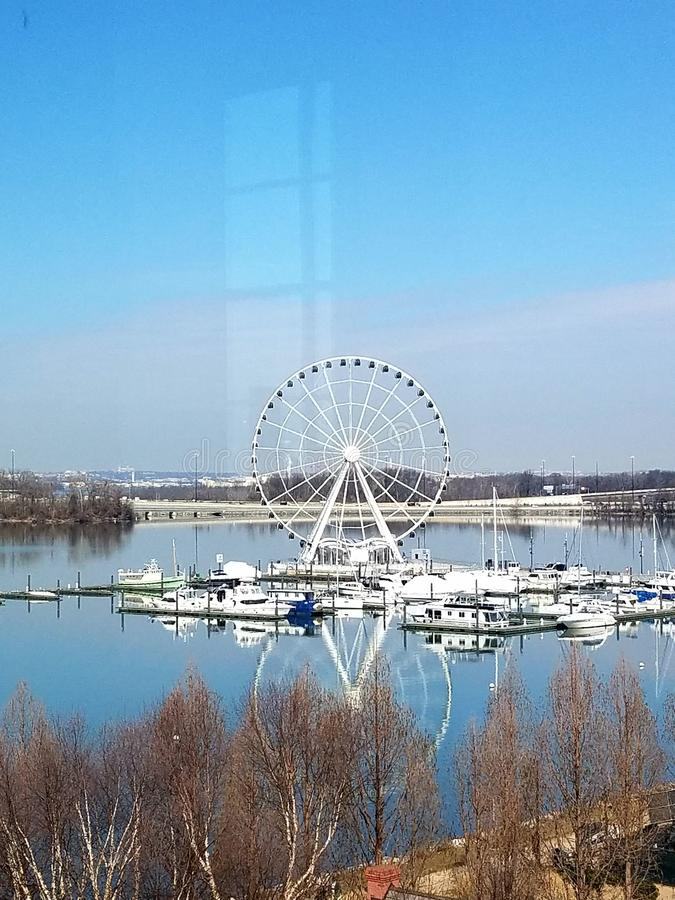 Porto Ferris Wheel imagem de stock royalty free