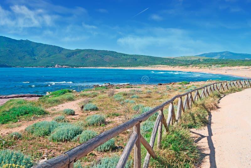 Download Porto Ferro palisade stock photo. Image of beautiful - 31559210
