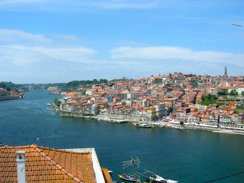 Porto Fluss Douro in Portugal stockfotografie