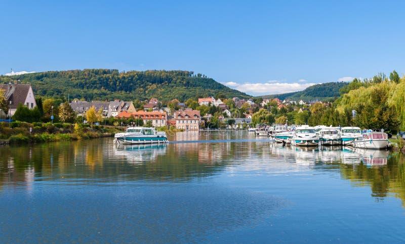 Porto fluviale in Saverne immagine stock