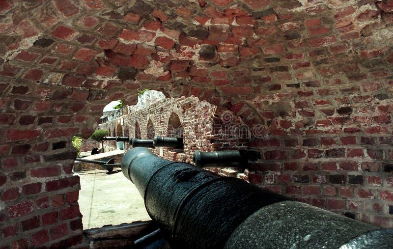 Porto forte del cannone di Charles fotografie stock