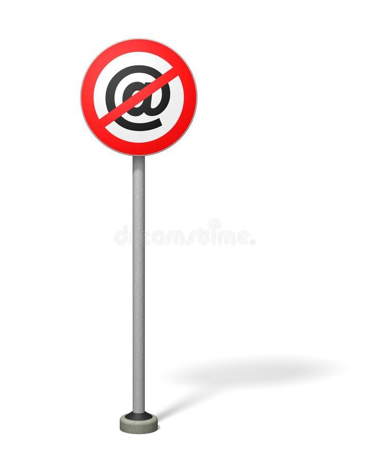 Download Porto franco del email illustrazione di stock. Illustrazione di rosso - 218200