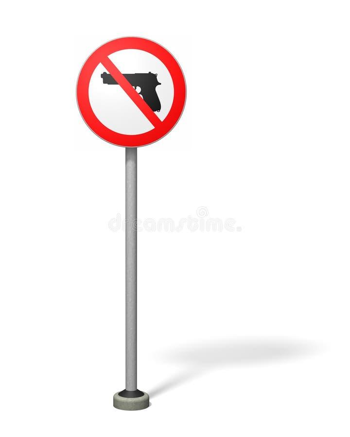 Porto franco della pistola illustrazione vettoriale
