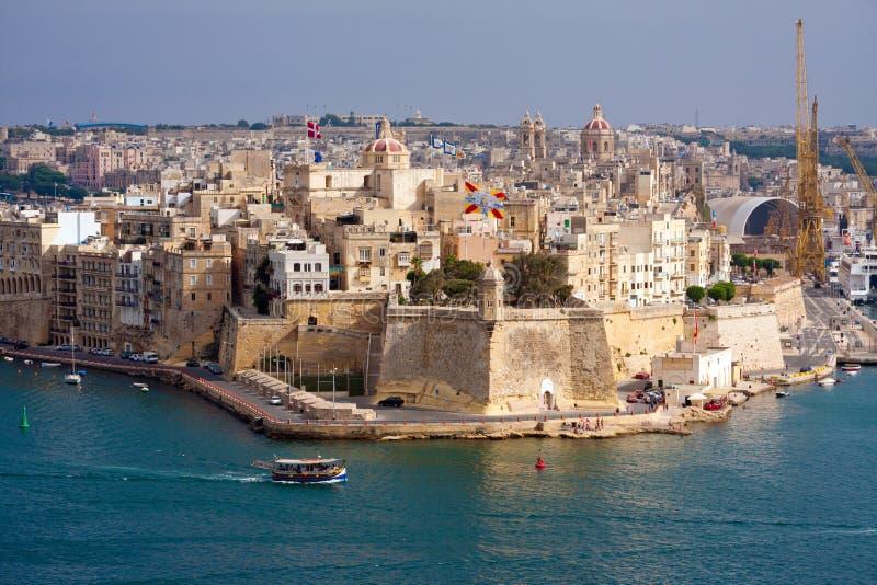 Porto grande de Malta fotografia de stock royalty free
