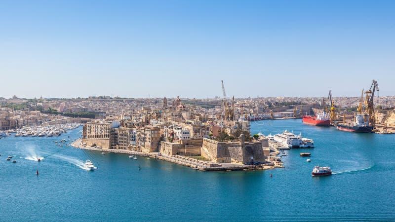 Porto grande, Malta fotos de stock royalty free